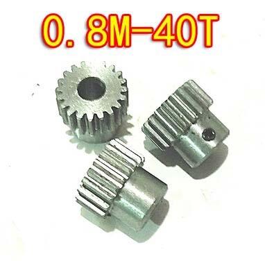 3 unids/lote 0,8 M-40 dientes diámetro 33,6mm T convexo de acero al carbono de Micro motores mini Diy pequeña, Módulo. Agujero D 5mm