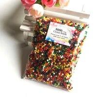 Boules dhydrogel de sol en cristal 3000-2 5mm  3 0 pieces  perles deau en forme de perle  perles de gelee  decoration florale  decoration de mariage  de maison