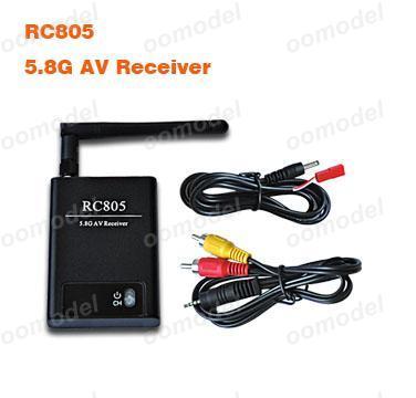 Boscam rc805 5.8 グラム av ワイヤレス レシーバー無料トラック無料