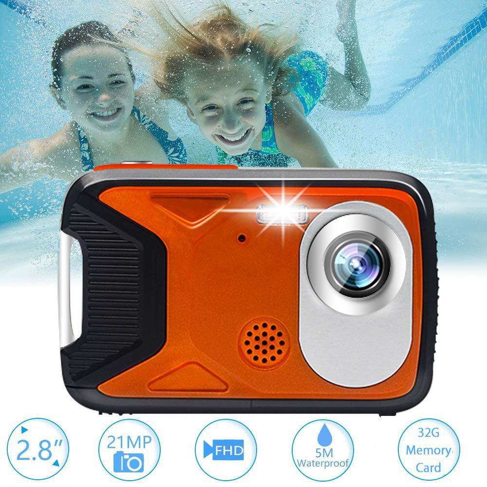 Digital Camera Underwater Waterproof Full HD 1080P for Snorkelling Waterproof Point and Shoot Digital Camera Action Camera r25