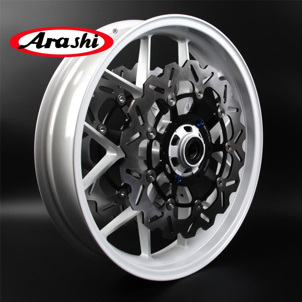 Arashi For HONDA CBR600RR 2007-2017 Front Wheel Rim Rims Front Brake Disc Rotors CBR600 CBR 600 RR 600RR 07 08 09 10 11 12 13 17