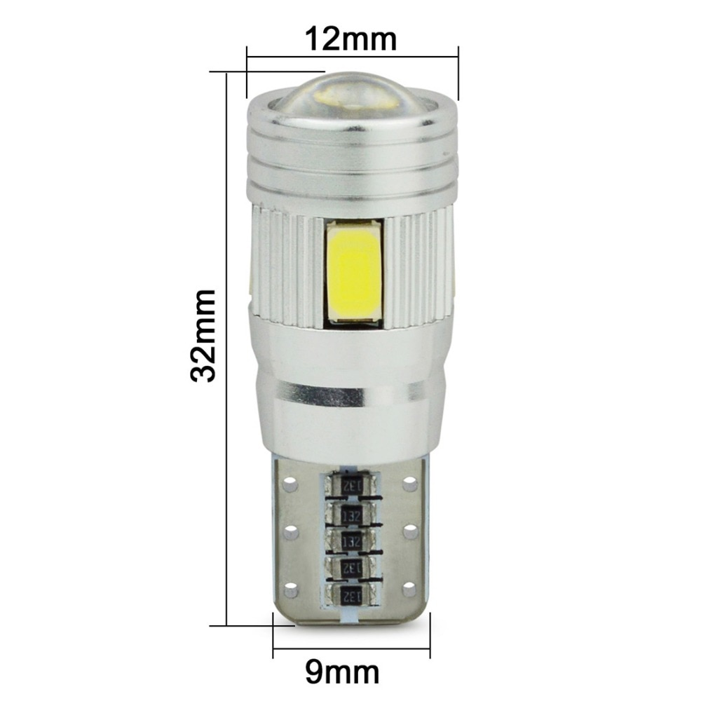 10x newest t10 194 168 w5w 6smd 5730 car led silicone shell auto dome parking lights car side wedge light lamp bulb car styling Safego 2pcs Car LED T10 W5W 6SMD 5730 Auto interior Exterior Clearance Lights Wedge Bulbs Canbus 194 168 LED Dome Lamp