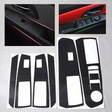 CITALL voiture intérieur Acc porte cadre autocollant fenêtre interrupteur en Fiber de carbone autocollant pour Chevrolet Holden Cruze 2009 - 2012 2013 2014