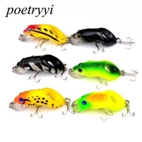 1pc 5 5cm 8 8g frog lure fishing lures treble hooks top water ray frog artificial minnow crank strong artificial soft bait 30