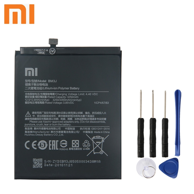 Batería Original xiaomi BM3J para xiaomi 8 Lite MI8 Lite BM3J batería de teléfono auténtica 3350mAh