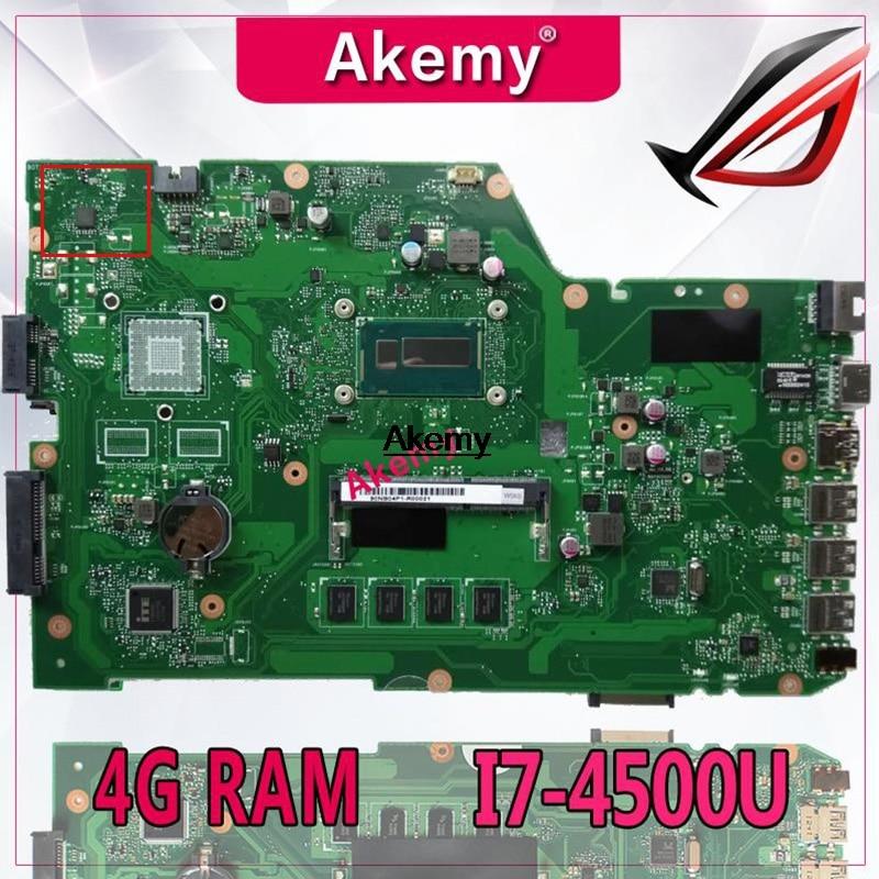 Placa base de ordenador portátil Akemy X751LA para For Asus X751LA X751LAB X751LD X751L X751 placa base original 4G RAM