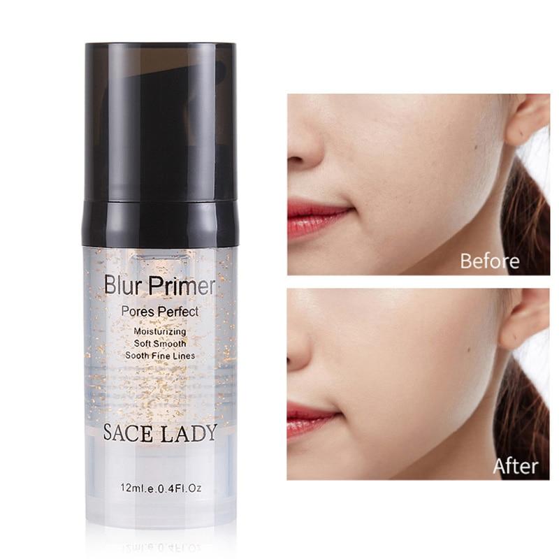 12ml iluminar hidratante Base Facial crema de aceite de control primera capa Facial líquido mujeres mate profesional Base de maquillaje Gel