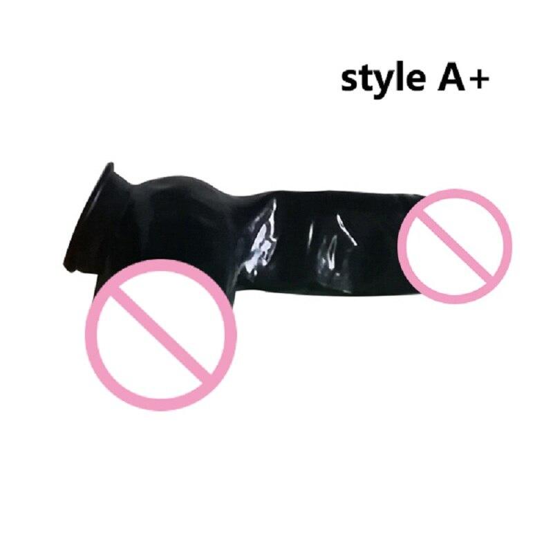 Nuevos calzoncillos sexis de látex estilo de vaina de pene de bola grande A + goma agradable para Adultos Versión de huevo grande flexible de 0,3mm