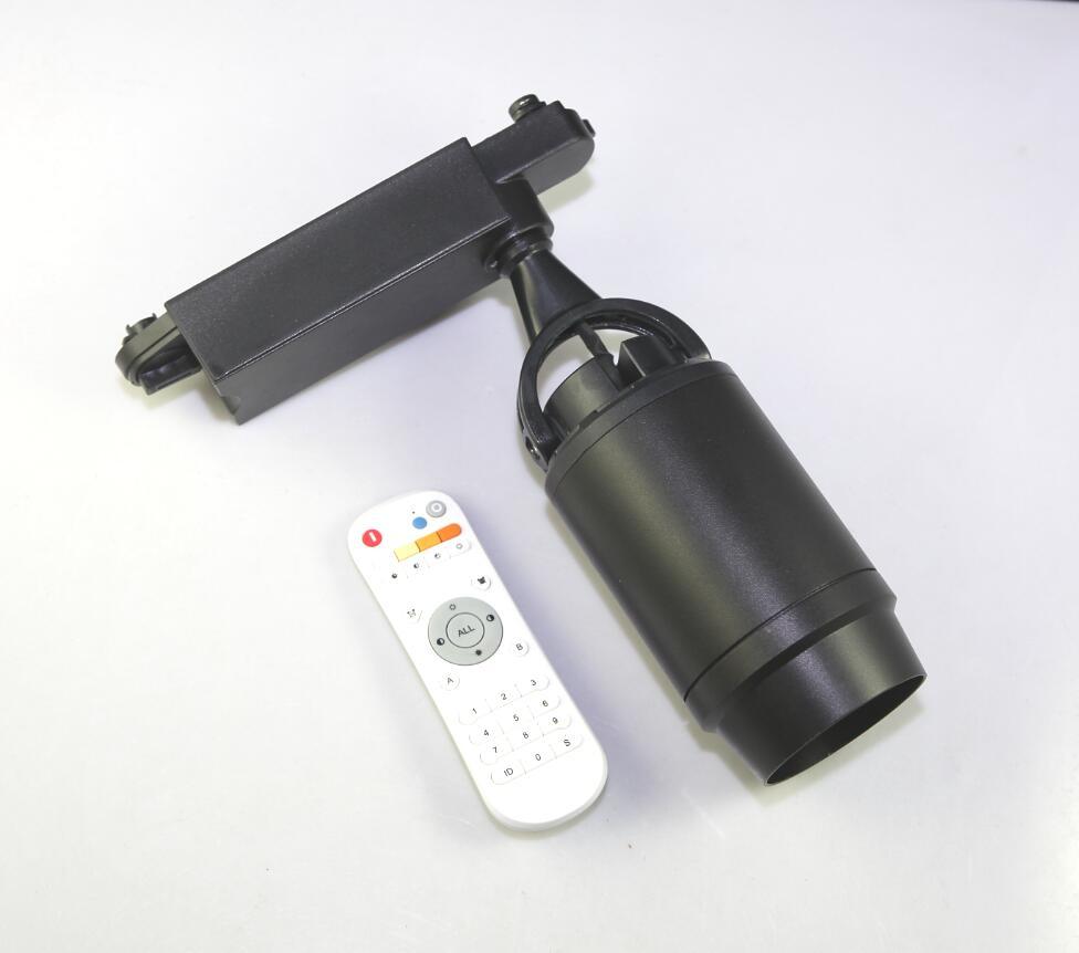 COB LED pista luz 2,4G control remoto color temperatura atenuación 12W x 2W AC100V-240V LED pista iluminación envío gratis