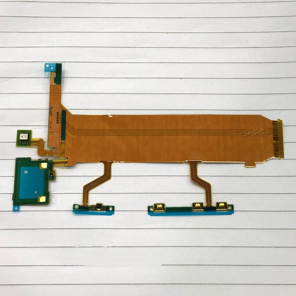 5 unids/lote nueva Tablero Principal conectar LCD de volumen botón lateral flexible Cable para Sony Xperia Z Ultra XL39H C6802 C6833 versión 3G