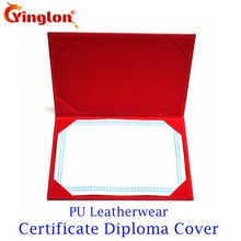 Imitation de cuir PU blanc, A3 A4, couverture de certificat de photofram, lmitation de cuir en daim, feuille dorée, logo personnalisé, acceptable