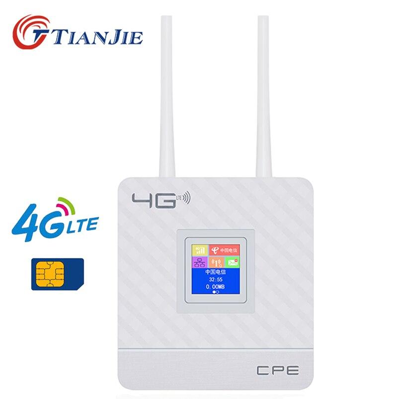 4G LTE CPE Wifi Router Entsperren 4G 3G Mobile Hotspot WAN/LAN Port Dual Externe Antennen gateway mit Sim Karte Slot Ethernet Modem