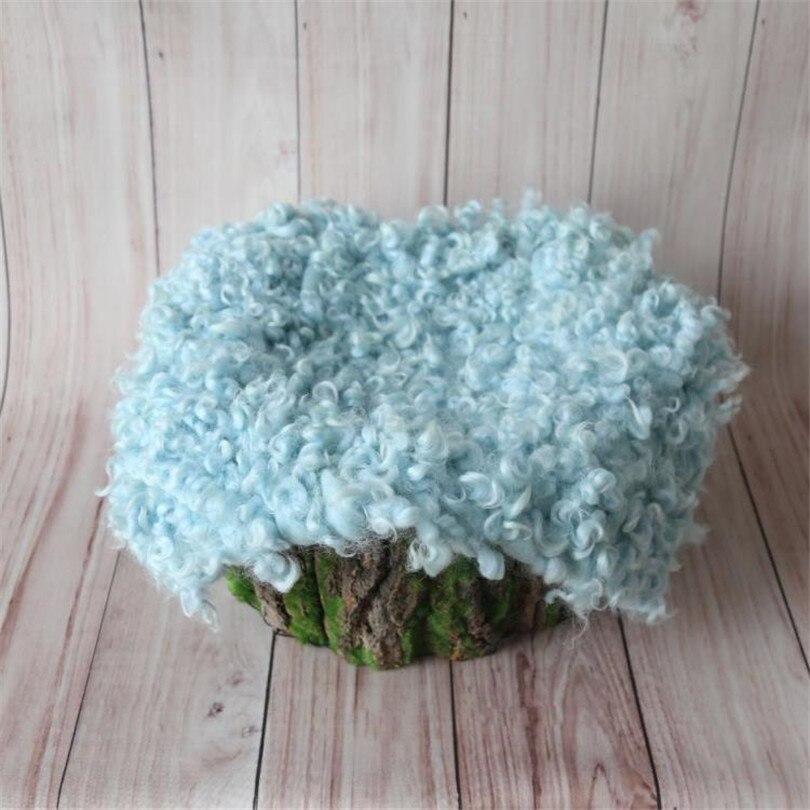 Baby Flokati rug blanket Newborn wool curly blanket layer fabric Newborn Baby basket filler stuffer