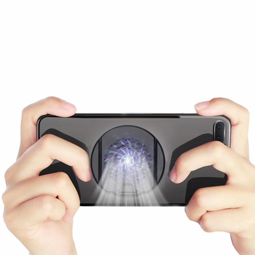 Soporte enfriador de teléfono móvil Gamepad silencioso Shooter radiador disipador de calor soporte portátil juego ventilador almohadilla de refrigeración Universal