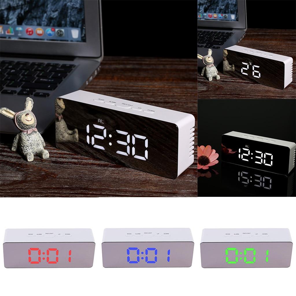 3d led despertador moderno relógio de parede digital mesa mesa nightlight saat parede para casa sala estar escritório decoração 19may13