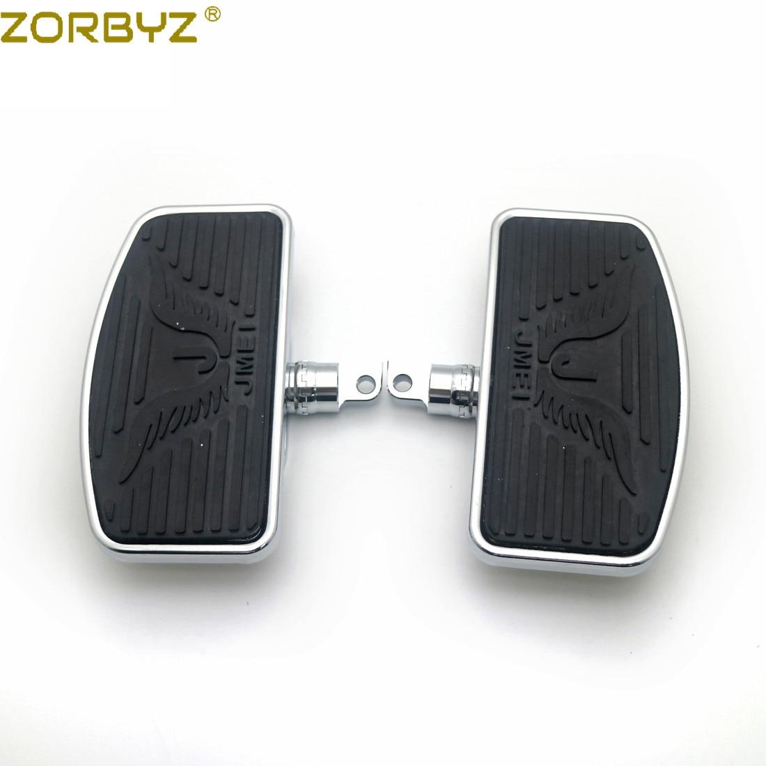 Zorbyz motocicleta ajustável traseiro passenger floorboard estribos para os pés harley sportster 883 1200 dyna