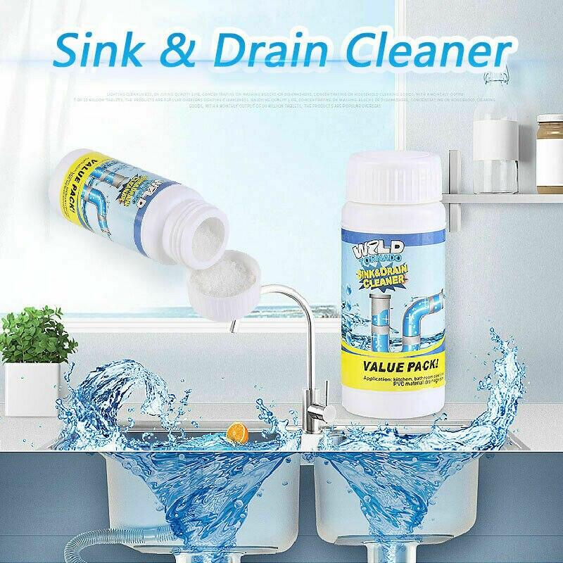 NOVA Pia Drenagem e Limpeza para Todos Os Fins-Quick Espuma Wc Poderosa Dissipador de Drenagem e Limpeza Em Pó Portátil de Limpeza Incrível
