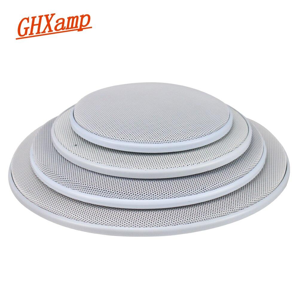 GHXAMP 2 шт. 4 дюйма 5 дюймов 8 дюймовый автомобильный потолочный динамик гриль сетчатый корпус 6,5 дюйма защитный чехол сабвуфер Сделай Сам ABS белый