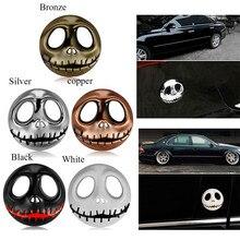 Metal dyniowy król styl naklejki samochodowe akcesoria motocyklowe Halloween szkielet naklejki na samochód naklejki przyczepy dekoracyjne naklejki