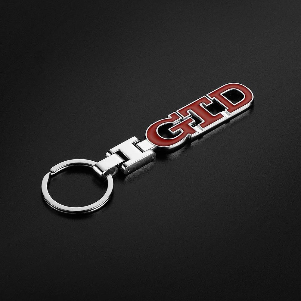 Для Фольксваген Гольф Поло Седан Jetta Touareg 4 5 6 7 3D металлический GTD эмблема Авто брелок кольцо держатель автомобильные аксессуары