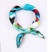 Shistal-pure real silk square scarf 55*55cm  fashion print women and girl brand shawl 2018 new design headwear No. 28