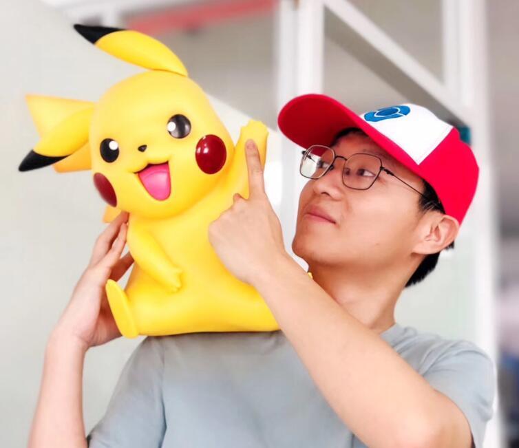 Tamaño grande 11 Pikachu con sombrero figuras de acción de juguete 40cm