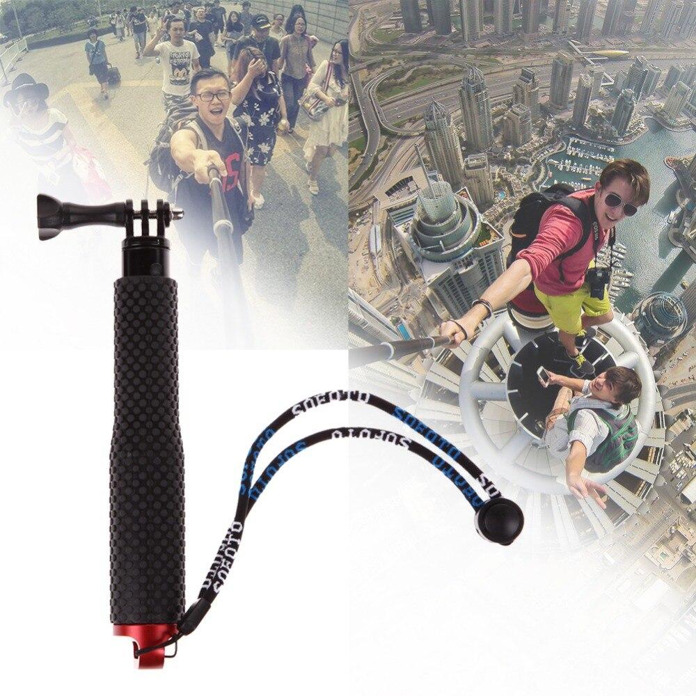 Trípode monopié impermeable de 4 colores palo Selfie palo de mano para Gopro Hero 4 3 + 3 2 1 cámara + temporizador automático