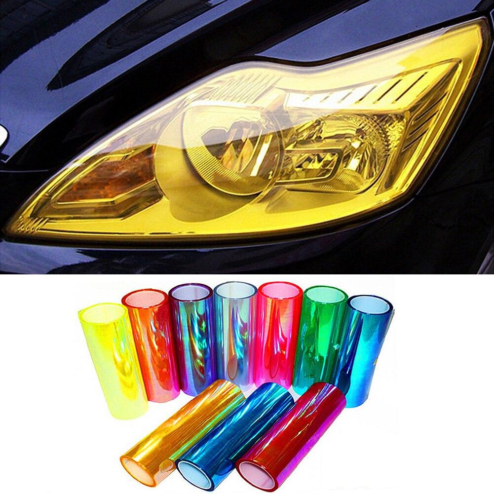 Pegatina de coche con estilo 30x100cm Luz de coche faro trasero protección película en lámpara pegatinas calcomanía luz de freno accesorios TXTB1