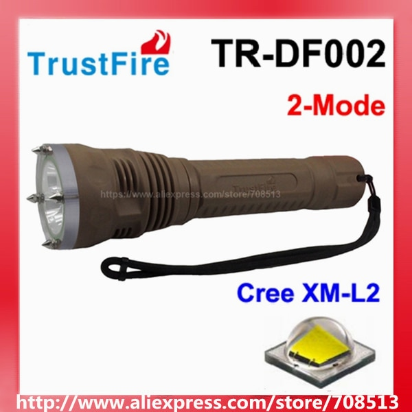 trustfire tr df002 3 x cree xm l2 2 modo de 1300 lumens levou lanterna de mergulho marrom