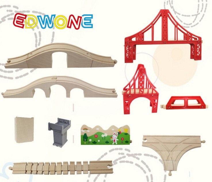 EDWONE estrella/ferrocarril para carril/carril escena pista y accesorios de madera Brio tren educativo Niño/niños juguete