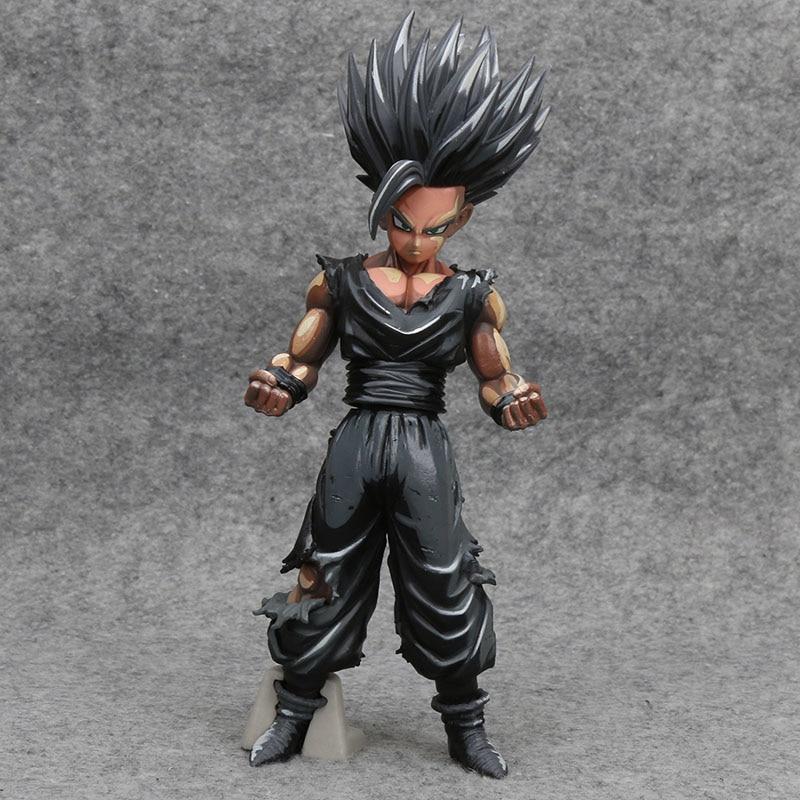 23cm Anime Dragon Ball Z Son gohan Chocolate color Version MSP PVC Action Figure Toys Doll black gohan