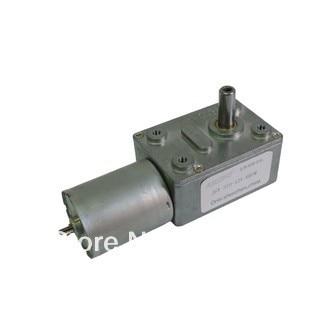10 unids/lote DC 6-24 v 4-160 rpm JGY-370 gusano motor de motor de engranaje DC, motor reductor cuadrado, envío libre