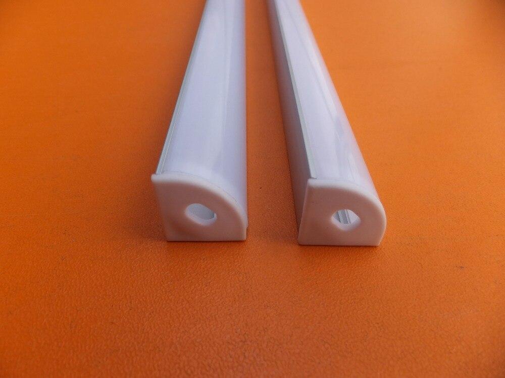 1 mt/teile Kostenloser versand Corner LED Aluminium Profil mit PC Abdeckung Schrank Schrank Aluminium Kanal LED Streifen Halter