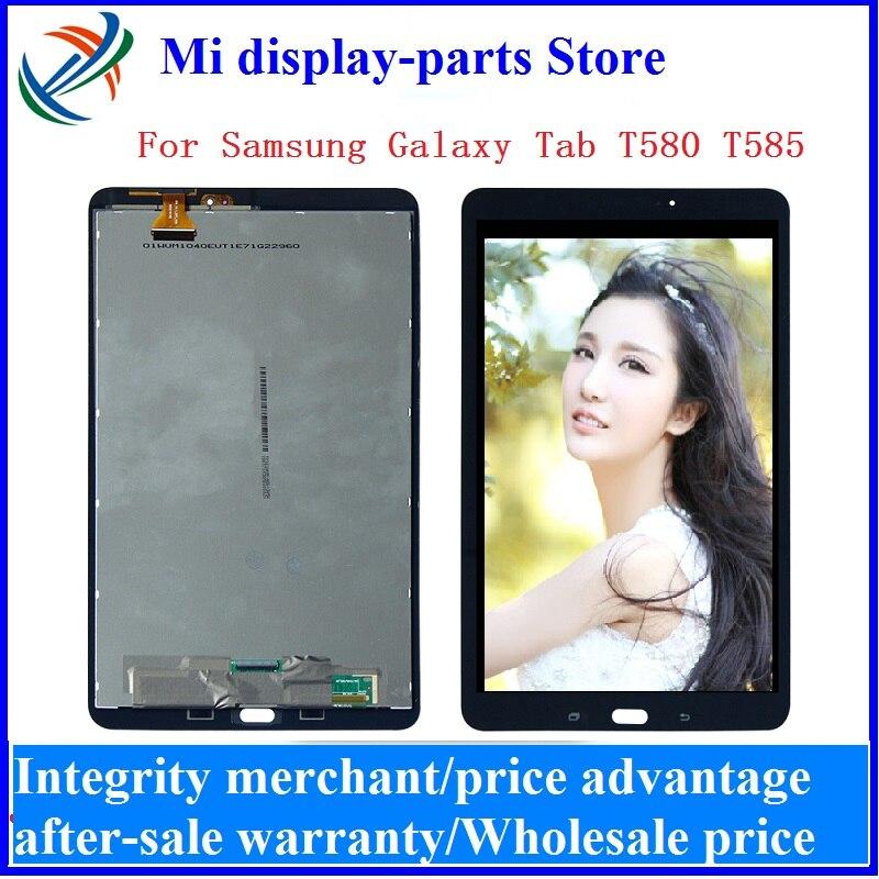 Para Samsung Galaxy Tab A SM-T580 SM-T585 T580 T585 LCD pantalla táctil Panel digitalizador montaje + herramientas