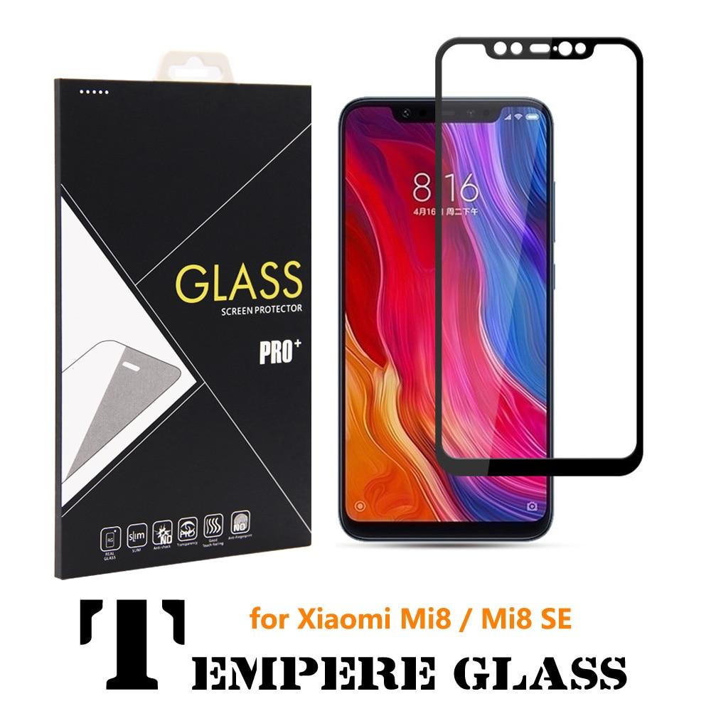 100X 9H 3D Curved Full Cover MI8 SE Tempered Glass Screen Protector for Xiaomi MI8 Glass xiomi MI 8 Whole Screen Protective film