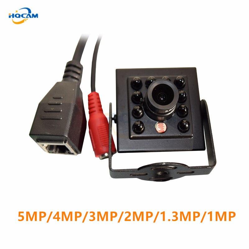 Hqcam 5mp 4mp 3mp 2mp 1.3mp 1 m visão noturna câmera ip mini ir 940nm 10 pces leds onvif cctv ir mini câmera ip ir câmera ip