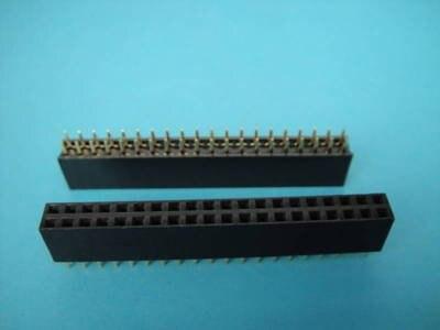 40 Pin 2x20  Female SIP Socket Panel Connector FS 100