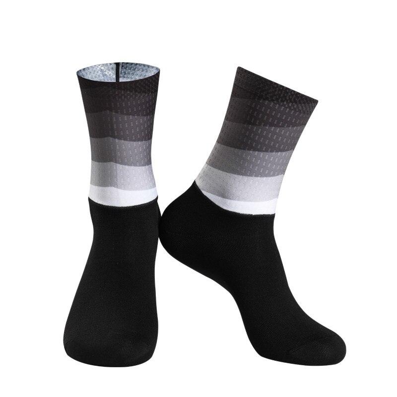 Calcetines antideslizantes de silicona de Color degradado para ciclismo para hombre y mujer