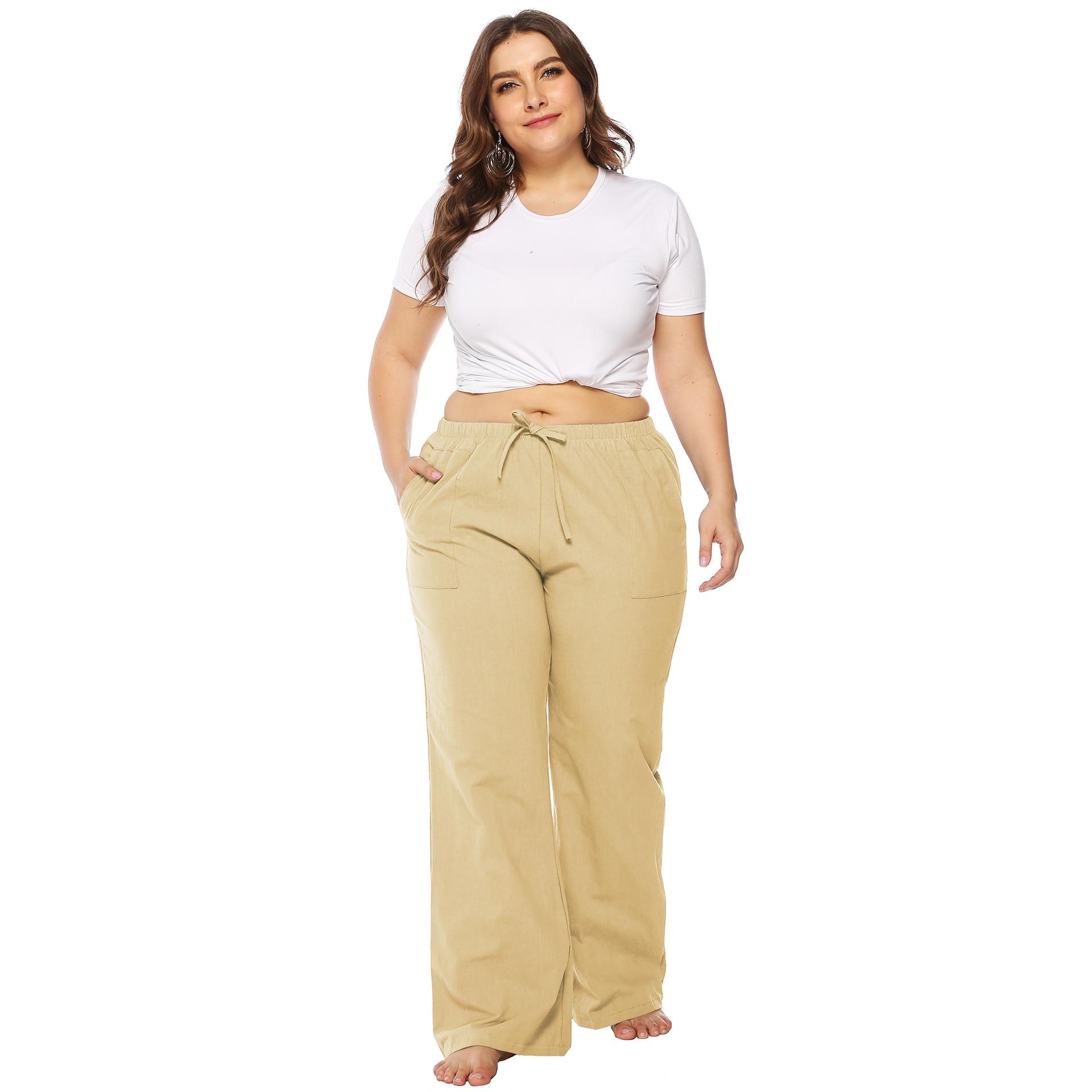 Women Summer Loose Flare Pants Girls Long Casual Pants Large Size 2xl Overalls Streetwear Trousers Female Hotsale Sweatpants