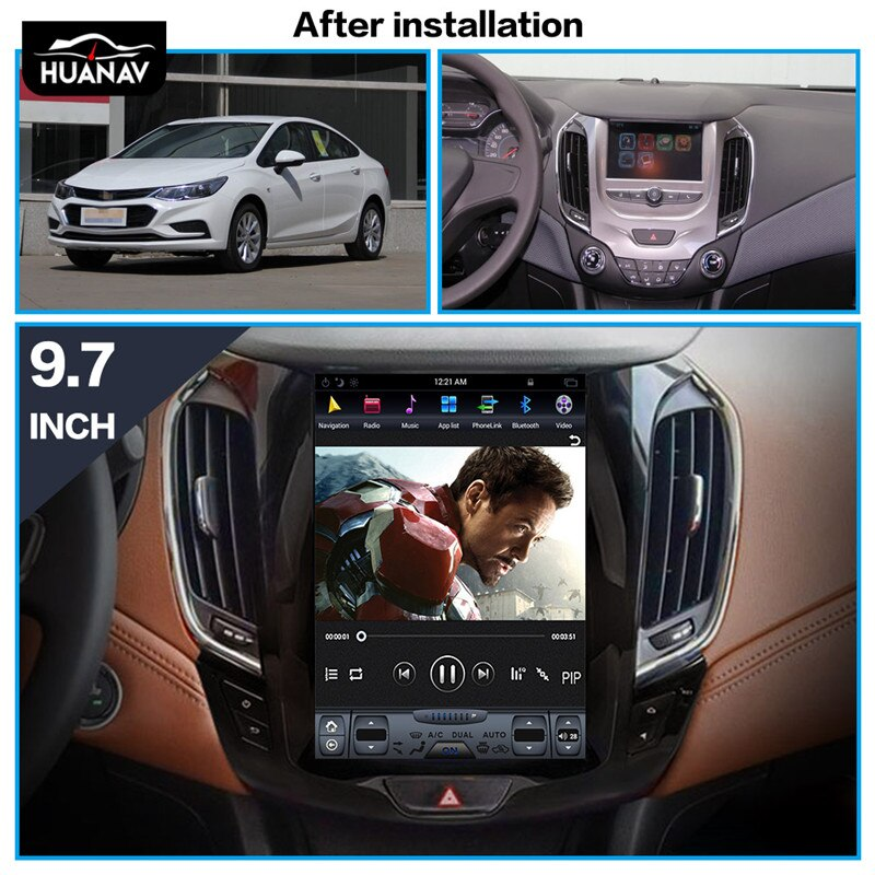 HUANVA Android 8.0 Car DVD Player GPS navigation For Chevrolet Cruze 2017 2018 multimedia player tape recorder 8-Core navi Audio