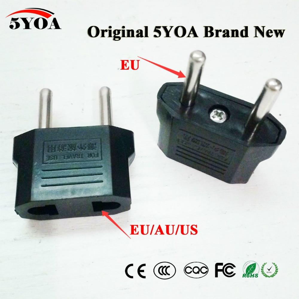 Универсальное сетевое зарядное устройство для США, Австралии, ЕС, ЕС, США в евро, для путешествий, адаптер питания переменного тока, переходник, 2 круглых разъема