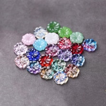 10 pcs/lot perles de murano dégradé de couleur fleur pétale forme tchèque breloque en verre fait à la main bijoux à bricoler soi-même