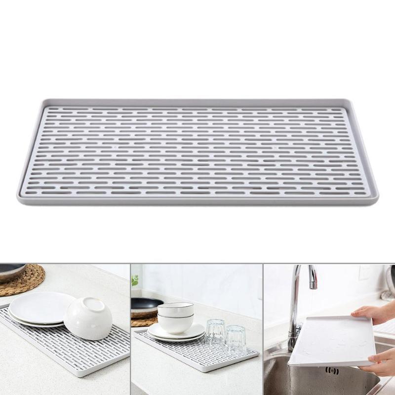 Plastic Double Layer Dish Vegetable Water Tray Drainer Drying Rack Washing Holder Storage Rack Kitchen Organizer