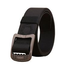 Fashion Unisex belt high quality Nylon weaving Alloy buckle Men belt solid color casual Men and Women cowboy pants belt