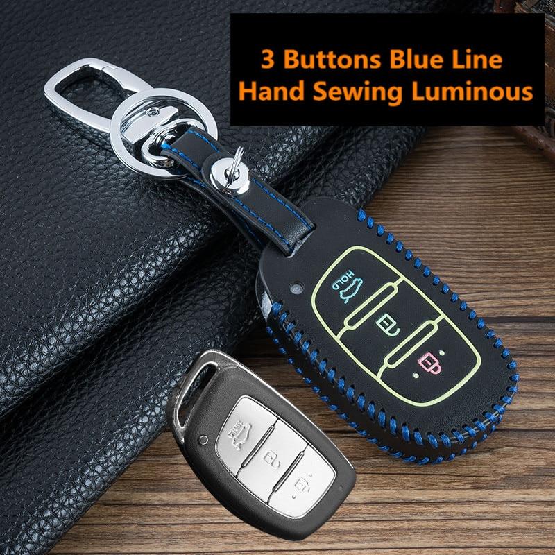 AliExpress - Luminous Remote Car Key Case Cover For Hyundai IX25 IX35 I20 I30 I40 hb20 Santa Fe Creta Solaris 2017 3 Buttons Auto Key Shell