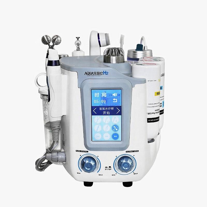 Máquina de exfoliación facial 6in1 hydra water hydro microdermoabrasión ultrasónica para rejuvenecimiento de la piel