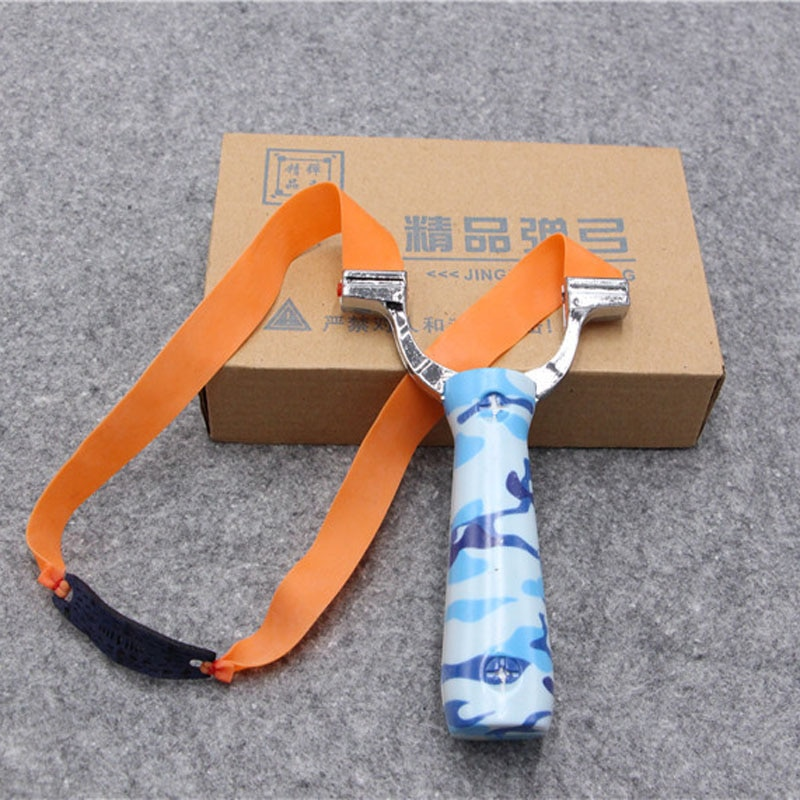 Powerful Steel Alloy Handheld Slingshots Sling Shot Catapult Camouflage Bow Catapult Outdoor Hunting Camping Bow Travel Kits