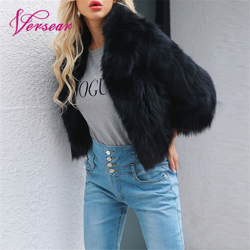 Chaqueta de piel sintética a la moda para mujer, peluda y esponjosa, lisa, manga 3/4, abrigo de invierno cálido y ajustado, abrigo corto para mujer, abrigo corto para mujer, bontjas