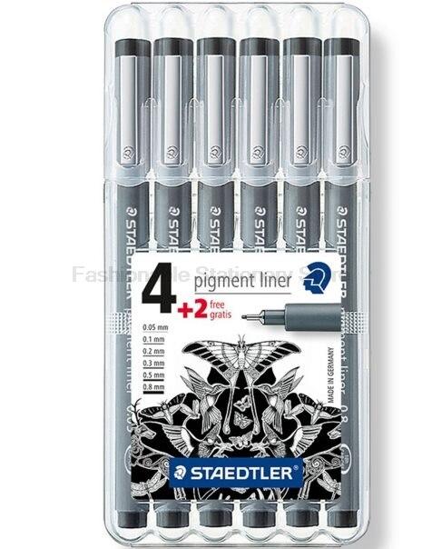 Set de rotuladores de arte STAEDTLER 308 SB6P 6 psc, juego creativo de tinta a base de agua para oficinas y suministros escolares