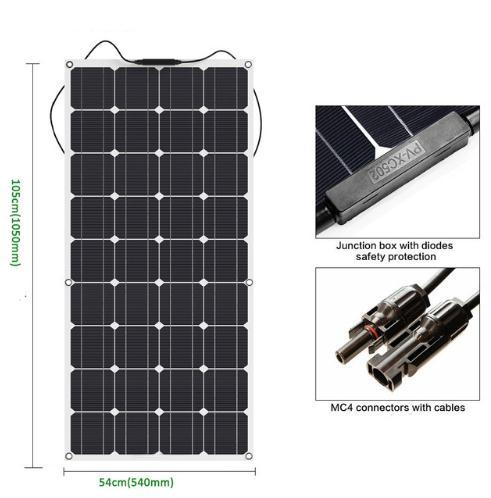 RV трейлер электрическая мощность высокая эффективность Солнечная гибкая панель 100 Вт JY-Flex-100W